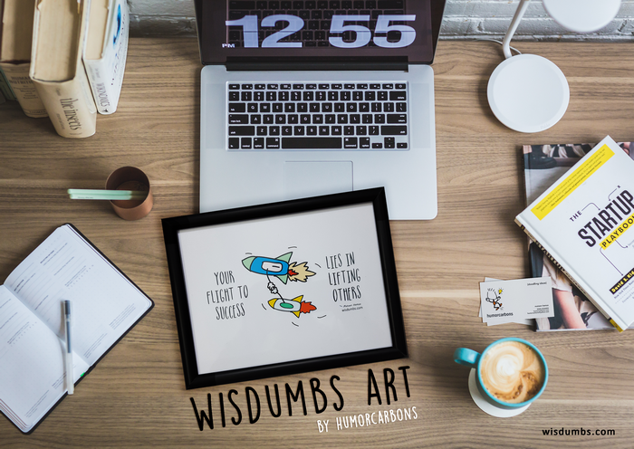 Humorcarbons Is Pleased To Announce The Launch Of Its Line Of U201cWisdumbs Artu201c.  Its A New Entry In The Market For Office Art. However, The Distinctive  Feature ...